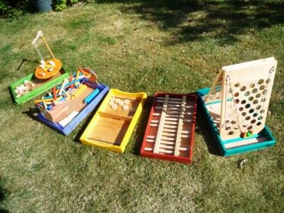 Lot de 5 jeux de table (Livré sans table)